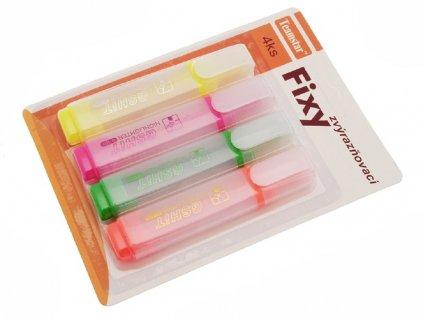 Fixy zvýrazňovací 4 ks 7042334