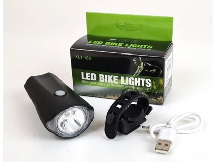 Cyklo light XLT 108, nabíjecí přední LED svítilna na kolo 12