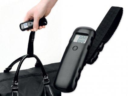 HEFTER plastová digitální váha na zavazadla, Černá