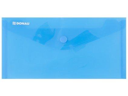 Obálka s drukem PP, DL průhledná modrá