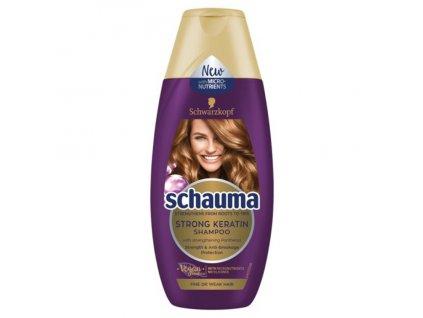 Schauma Keratin Strong, šampon, pro jemné a slabé vlasy, 250 ml