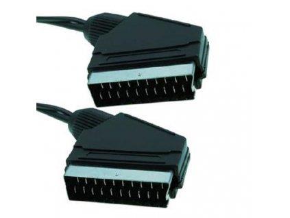 kabel propojovaci scart audio video 2x scart samec 1 5m i28475