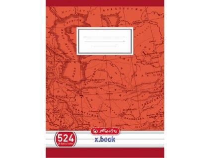 Školní sešit A5 20 listů, bezdřevý linkovaný č.524