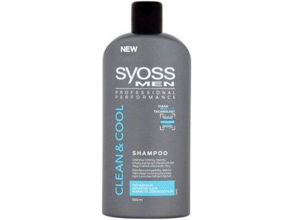 Syoss Clean & Cool Men šampon pro normální až mastné vlasy 500 ml