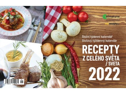 Kalendář 2022 Recepty z celého světa, 214 x 140 mm