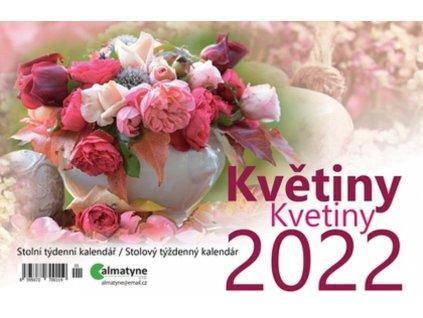 Kalendář 2022 Květiny, 214 x 140 mm