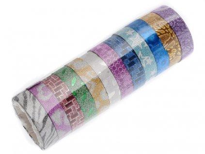 Dekorační lepící páska 10 ks 7040117