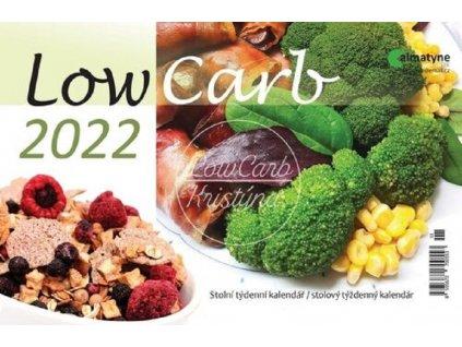 Kalendář 2022 Low Carb, stolní týdenní, 214 x 140 mm