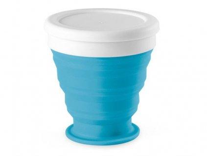 Skládací silikonový kelímek, Světle modrá 1