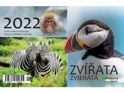 Kalendář 2022 Zvířata 214x140mm