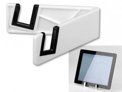 Plastový stojánek na mobil/tablet, bílá