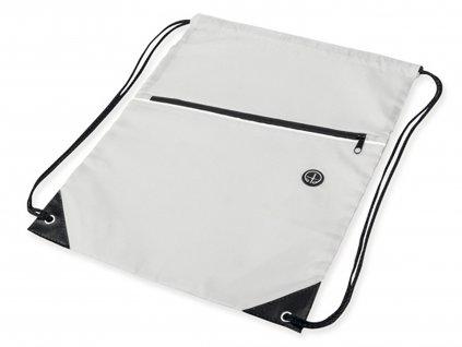 Stahovací batoh na záda bílý
