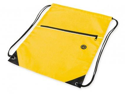 Stahovací batoh na záda žlutý