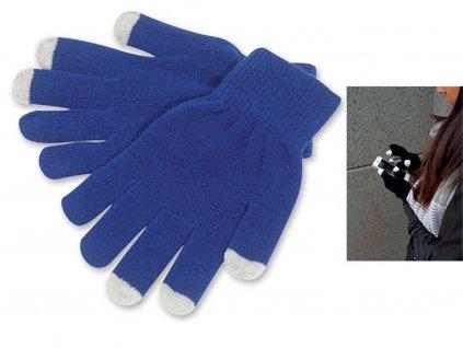 TOUCH GLOVES rukavice pro dotykové displeje, Královská modrá