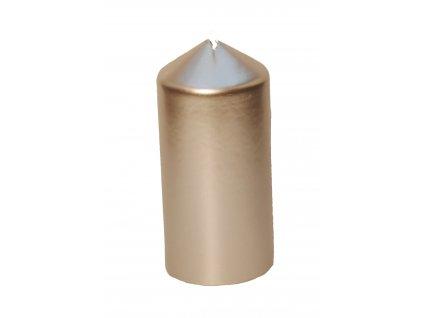 Svíčka válec stříbrnná 70x150 mm