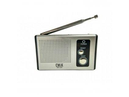 Rádio FM mini auto SCAN DC 3V