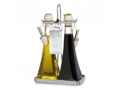 Italská stolní sada extra vergine olivového oleje a balsamiko octa 2x200ml