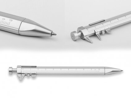 Kuličkové pero plastové s posuvným měřidlem