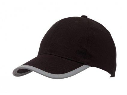 Čepice kšiltovka s 6 panely a reflexním páskem