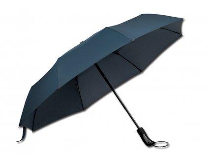 Deštník skládací s funkcí open close modrý