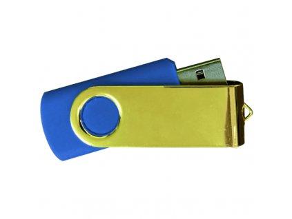 USB FLASH 8 GB modrá zlatá