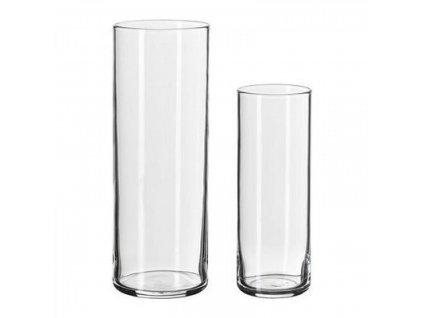 Váza sklo 2 ks válce