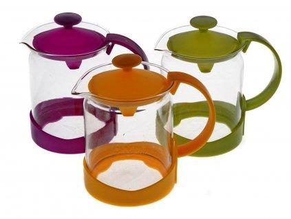 Čajová skleněná konvička