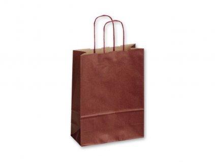 TWISTER BORDO I papírová dárková taška, 18x8x25 cm, Bordó