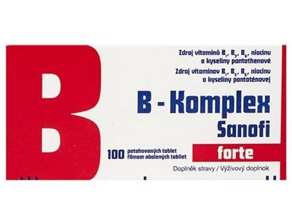 B-komplex forte Sanofi drg.100 GLASS