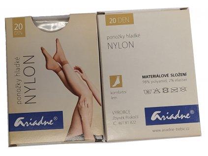 Ponožky hladké Nylon 20 dní