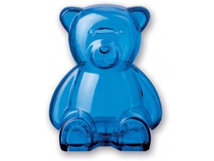 PORTEN pokladnička Medvěd plastová modrá