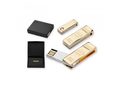USB FLASH DISK 51 32 GB zlatá cihla 45339 89