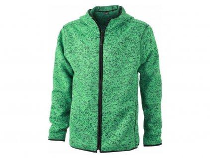 28343 1 jn 589 fleecova mikina s kapuci zelena velikost varianta 3xl