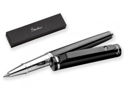 CALIOPE ROLLER kovové keramické pero v dárkové krabičce, SANTINI, Černá