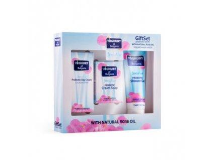 Dárkový set probiotické kosmetiky denní krém 30 ml, mýdlo 50 g. a sprchový gel 75 ml