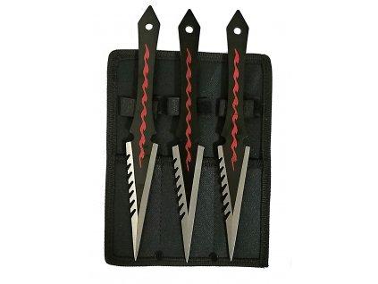 Vrhací nože sada 3 ks v textilním pouzdře