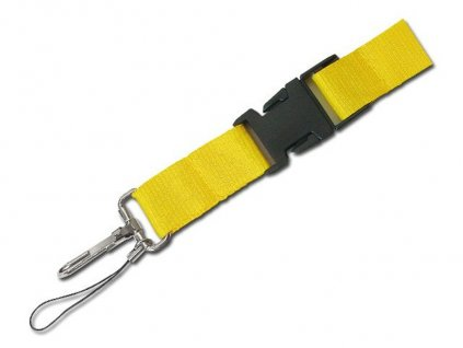 Šňůrka na krk s karabinou MURRAY žlutá 64402 08