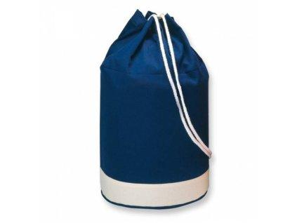 Bavlněný batoh zdobený bílým pruhem