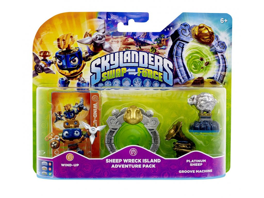 AC SKYLANDERS 3 SWAP FORCE ADVENTURE PACK 2 SHEEP WRECK ISLAND