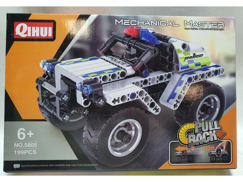 HTB POLICE CAR PULL BACK (BRICKS QIHUI 5805)