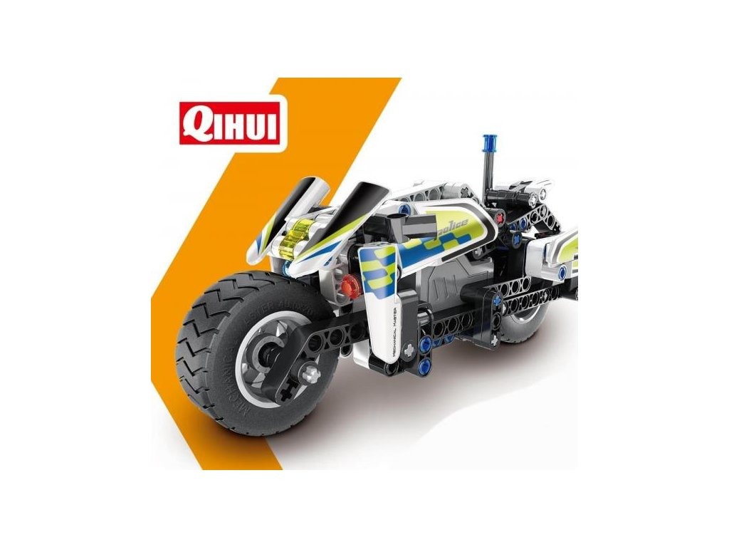 HTB POLICE MOTORBIKE (PULL BACK) (BRICKS QIHUI 5806)