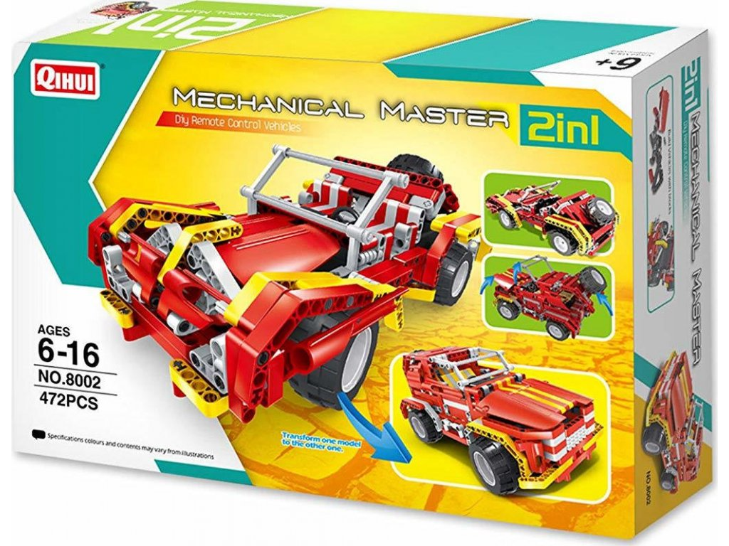 HTB SUV CAR & ROADSTER 2IN1 (RC) (BRICKS QIHUI 8002)