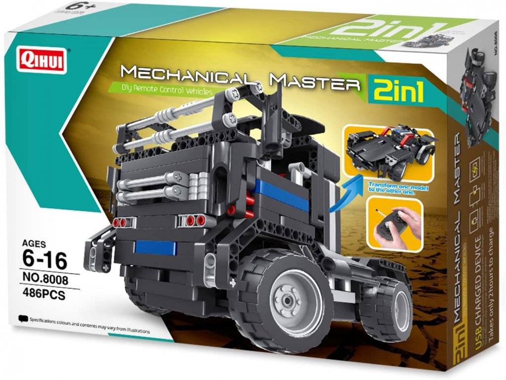 HTB TRUCK & SPORTS CAR 2IN1 (RC) (BRICKS QIHUI 8008)
