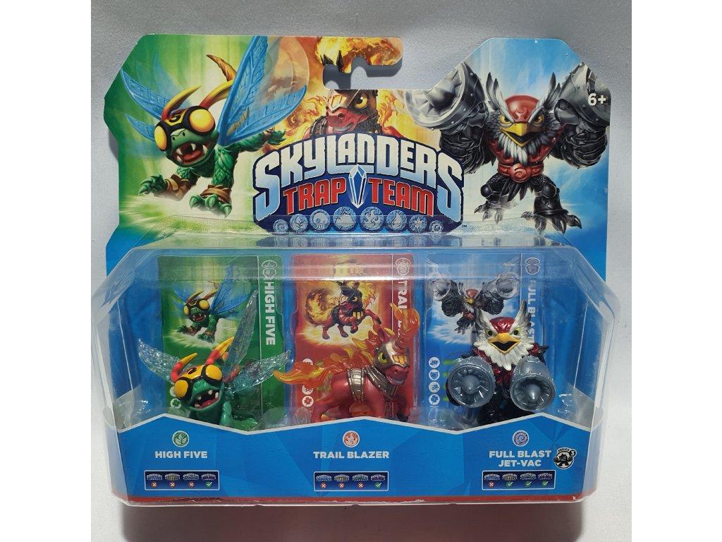 AC SKYLANDERS 4 TRAP TEAM TRIPLE PACK C (HIGH FIVE + TRAIL BLAZER + JET VAC S34)