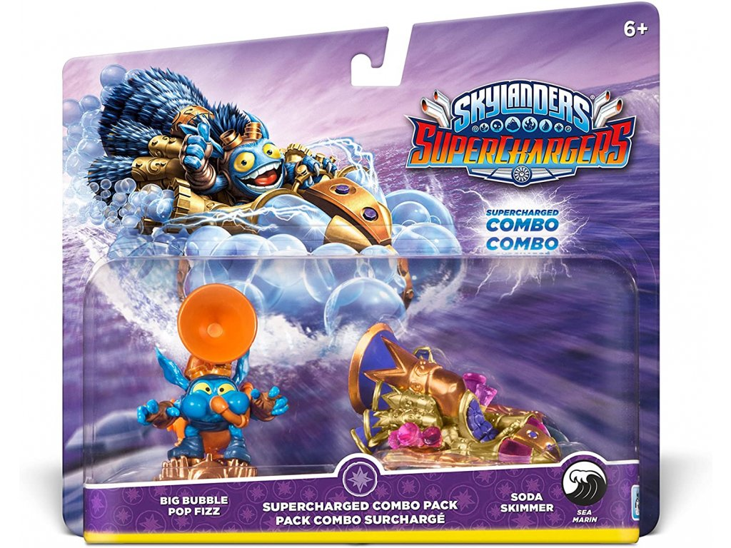 AC SKYLANDERS 5 SUPERCHARGERS DUAL PACK 3 (BIG BUBBLE POP FIZZ + SODA SKIMMER)
