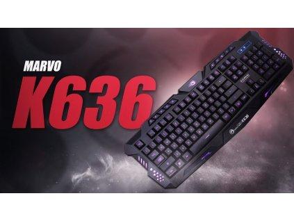 KEYBOARD K636 GAMING (MARVO GAMER)