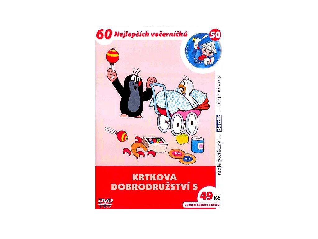 Krtkova dobrodružství 5 DVD papírový obal