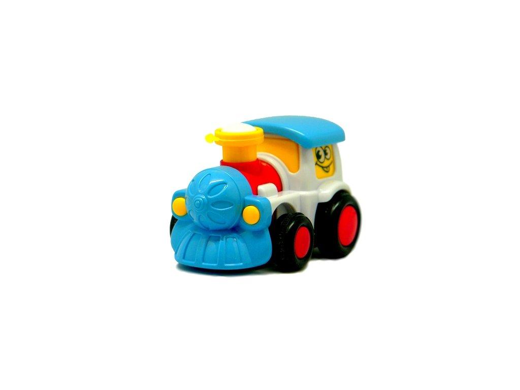Q-City Mašinka barevná 9cm bílá