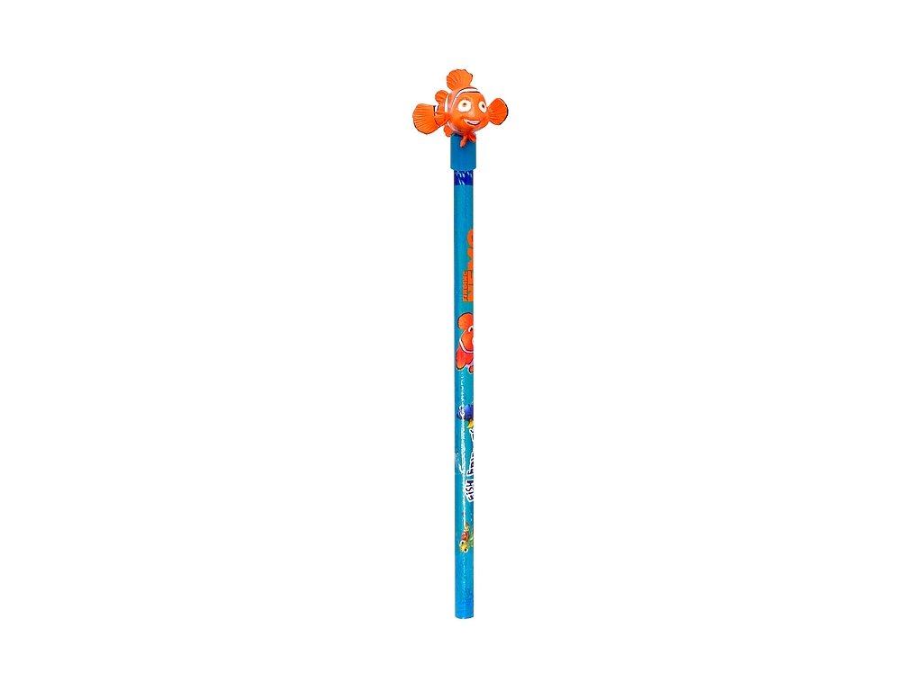 Obyčejná tužka s gumovou figurkou Nemo (0578)