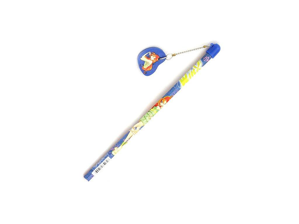 Winx Club - Tužka s gumou na řetízku (1716) modrá
